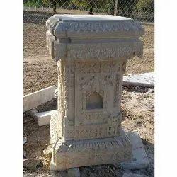 Sand Stone Tulsi Pot