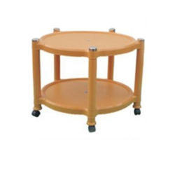 Round Marble Beige Beta Plastic Center Table, Size: Small And Medium