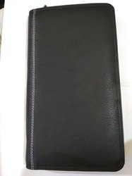 Black Female Leather Travel Wallet
