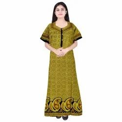 Full Length Ethnic Embroidered Night Wears