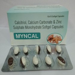 Calcitriol Calcium Carbonate & Zinc Sulphate Monohydrate Softgel Capsules