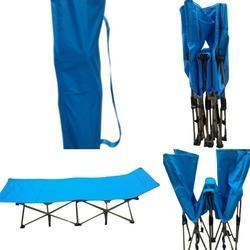 Folding Camping Bed - Blue