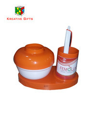 Cotton Dispenser with Pen Stand