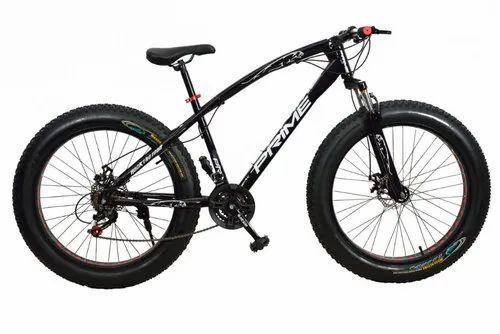 21 Gear Black Fat Bike