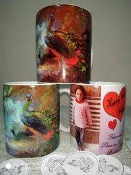 CEREMIC100 White Customizable Coffee Mug, For Home, Capacity: 325 Ml
