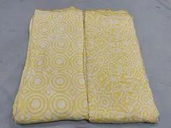 Satkaar Printed Pure Cotton Silk Fabric, for Dress