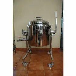 Silver Stainless Steel Bulk Cooker for Restaurant, Capacity: 50 L