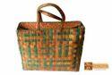 Hebe Screwpine Leaf Woven Shopper Bag, Size(centimetre): Dimensions : Height - 13.5