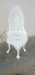 Brown Polished Cast Iron Chair for Outdoor