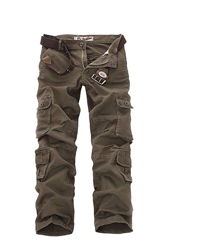Mens Casual Cotton Military Army Cargo Camo Combat Work Pants Trouser