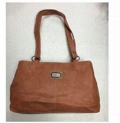Brown Simple Leather Bag