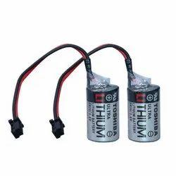 Toshiba Battery JZSP-BA01 ER3V  ER4V 3.6V LI-SOL2 PLC Battery 1000mAh With Black Connector