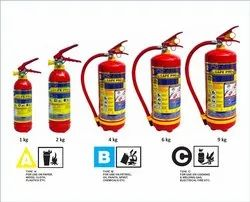 Safepro A B C Dry Powder Type ABC Fire Extinguisher, Capacity: 2 to 9kgs