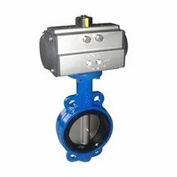 SS Pneumatic Actuated Butterfly Valve