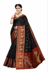 COTTON JAQUARD SAREE