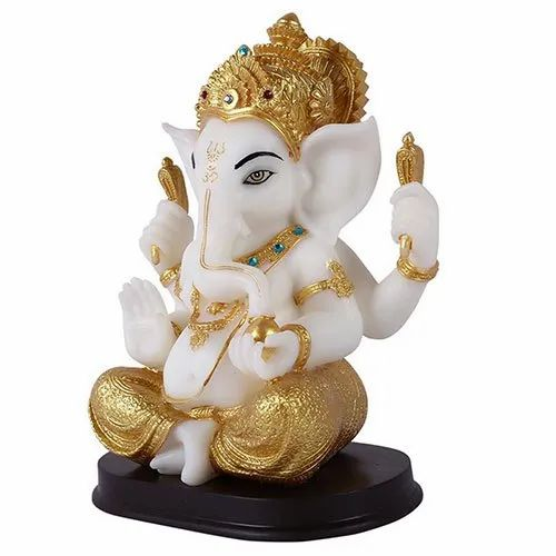 Polished White Marble Ganesh Idol Size Minimum 12 Inch Rs 15000