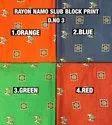 Rayon Namo Slub Block Print