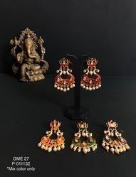 Lotus Meenakari Earings