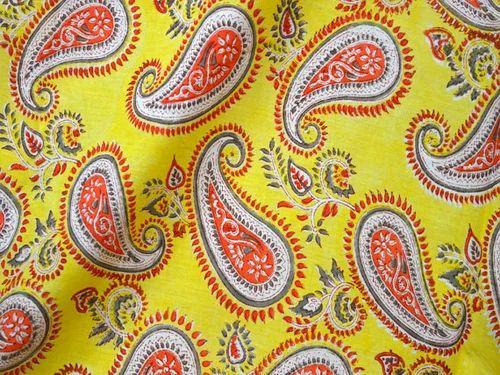 5 Yard Fabric Soft Cotton garments use hand block Print Flower Running Indian