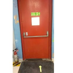 Red Aluminium Aluminum Emergency Exit Door