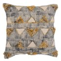 Printed Embroidered Pattern Cotton Cushion Cover