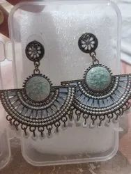Ladies Artificial Oxidized Earrings