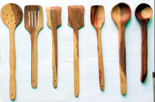 Handmade Wooden Serving And Cooking Spoon Kitchen Tools D Set Of 7