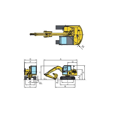 350 1 2 7050 Kg Komatsu PC71 Hydraulic Excavator ID
