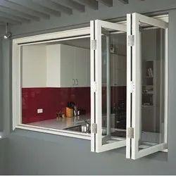 White Aluminium Folding Window