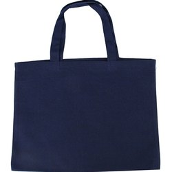 Navy Blue Cotton Bag