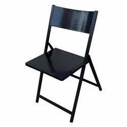 Avadh Interiors Black MS Folding Chair, Size: 78 X 48 X 44 Cm