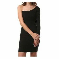 Plain Western Wear Black One Piece Dress, 18-35