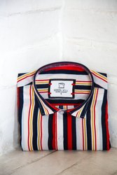 Mens Multicolor Striped Casual Shirt