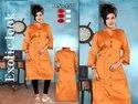 Ladies Designer Orange Kurti