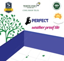 Water Proof Terrace Floor Tile White Feet