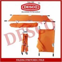 DESCO Orange Folding Stretcher 2 Fold, For Hospital, Size: 208 X 55 X 13cm