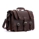 Brown And Tan Leather Briefcase Bags
