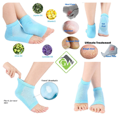 Silicone Gel Heel Socks with Spa Botanical GelPad