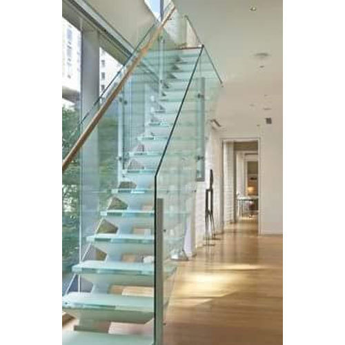 Toughened Glass Railing At Rs 175 Square Feet Glass Staircase