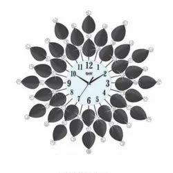 Crystal Leaf Acrylic Wall Clock