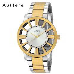 Branded Two Tone Finishing Men's Brass Watch