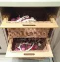 Burge Wood Wicker Basket With Handle, For Kitchen, Size: 600 Mm