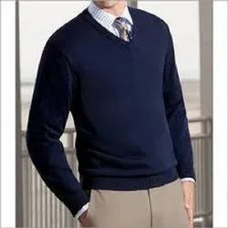 Formal Wear Unisex Blue Color Sweaters for Man