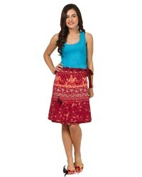 Saadgi Ethnic Cotton Short Skirt