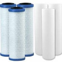 White and Blue Polypropylene Domestic Water Filter Cartridge, Cartridge Size: 5 Inch
