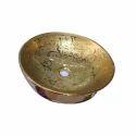 Ceramic Golden Designer Round Wash Basin
