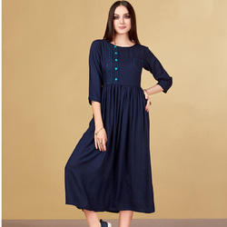 Fancy Rayon Cotton Kurti