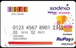 Idfc Bank Sodexo Gift Card / Premium Pass / Bank Cards / Prepaid Cards