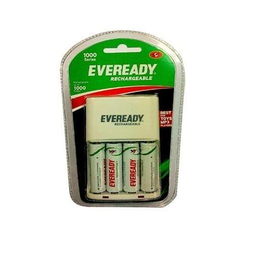 Eveready Battery Charger With 4U AA Rechargeable