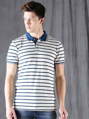 Polo Cotton Type T Half Whiteamp; Blue Sleeve ShirtsRs Mens 280 gY6bf7y
